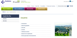 LINK A WEB CORPORATIVA DE OSAKIDETZA